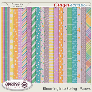 Blooming Into Spring - Papers by Aprilisa Designs