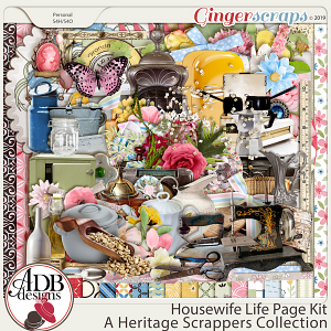 Housewife Life Page Kit by ADB Designs