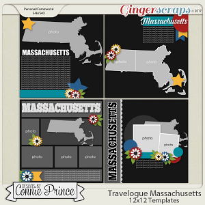 Travelogue Massachusetts - 12x12 Temps (CU Ok)