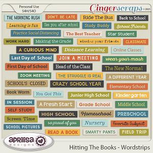 Hitting The Books - Wordstrips by Aprilisa Designs