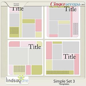 Simple Set 3 Templates by Lindsay Jane