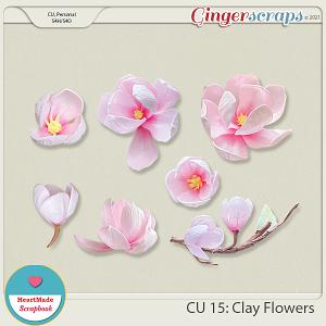 CU 15 - Clay flowers