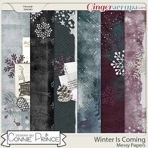 Winter Is Coming - Messy Papers by Connie Prince