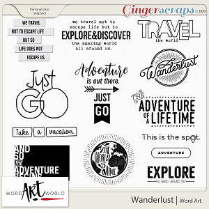Wanderlust Word Art
