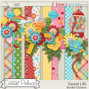 Sweet Life - Border Clusters by Connie Prince