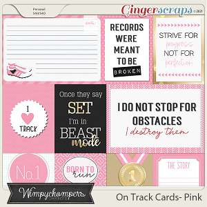 On Track- Pink-Cards