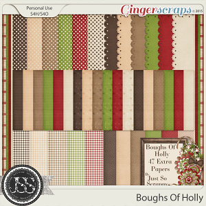 Boughs Of Holly Pattern Paper