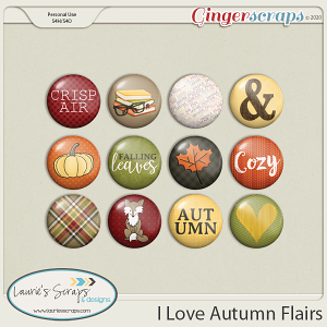 I Love Autumn Flairs