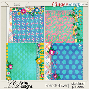 Friends For Ever: Stacked Papers by LDragDesigns