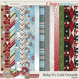 Baby It's Cold Outside Papers by JoCee Designs