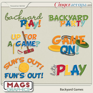 Backyard Games WORD ART by MagsGraphics