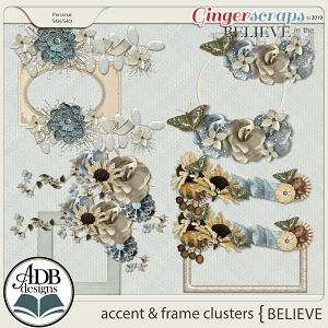 Believe Accent and Frame Clusters by ADB Designs