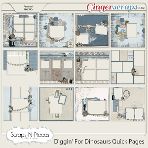 Diggin' For Dinosaurs Quick Pages - Scraps N Pieces