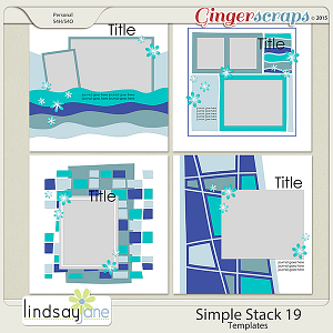 Simple Stack 19 Templates by Lindsay Jane