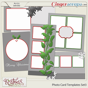 Photo Card Templates Set 3