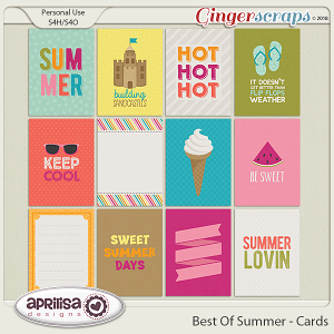 Best Of Summer - Cards by Aprilisa Designs
