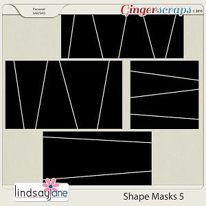 Shape Masks 5 by Lindsay Jane