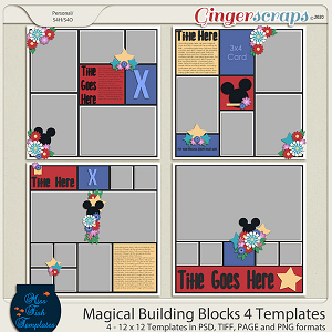 Magical Building Blocks 4 Templates by Miss Fish