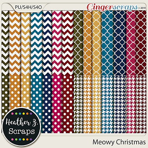 Meowy Christmas EXTRA PAPERS by Heather Z Scraps
