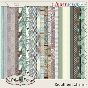 Southern Charm Papers by Scraps N Pieces