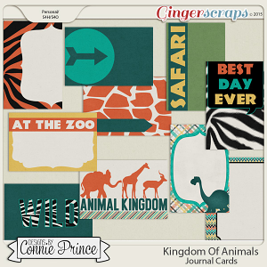Kingdom Of Animals - Journal Cards