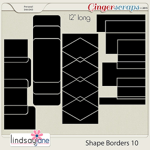 Shape Borders 10 by Lindsay Jane