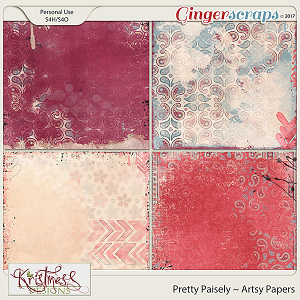 Pretty Paisley Artsy Papers