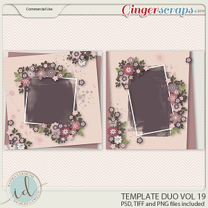 Template Duo Vol 19 by Ilonka's Designs