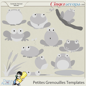 Doodles By Americo: Petites Grenouilles Templates