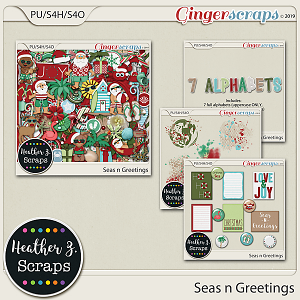 Seas n Greetings BUNDLE by Heather Z Scraps