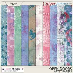 Open Doors - Artsy Papers - by Neia Scraps