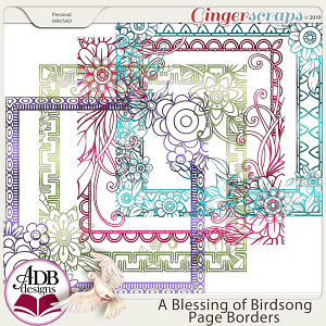 A Blessing of Birdsong Page Borders by ADB Designs