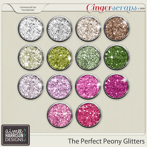 The Perfect Peony Glitters by Aimee Harrison