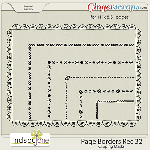 Page Borders Rec 32 by Lindsay Jane