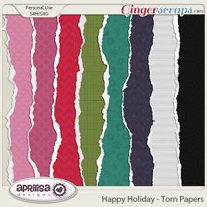 Happy Holiday - Torn Papers