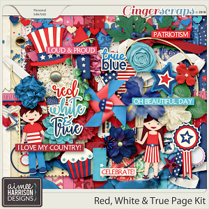 Red, White & True Page Kit by Aimee Harrison