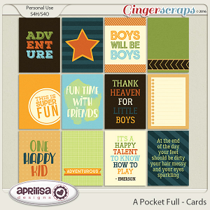 A Pocket Full - Cards by Aprilisa Designs