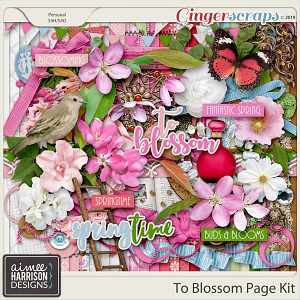 To Blossom Page Kit by Aimee Harrison