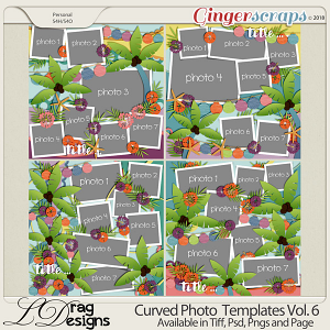 Curved Photo Templates Vol. 6 by LDrag Designs