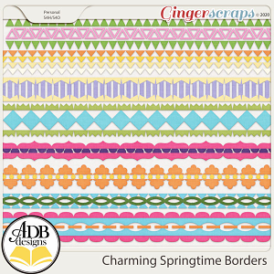 Charming Springtime Borders by ADB Designs