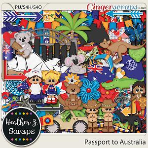 Passport to Australia KIT by Heather Z Scraps