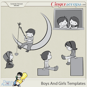 Doodles By Americo: Boys And Girls Templates