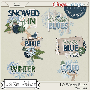 Life Chronicled: Winter Blues - Word Art Pack by Connie Prince
