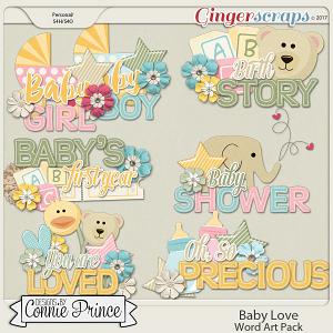 Baby Love - Word Art Pack