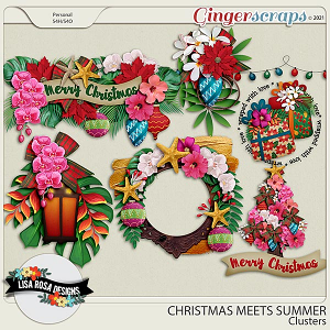 Christmas Meets Summer - Clusters by Lisa Rosa Designs