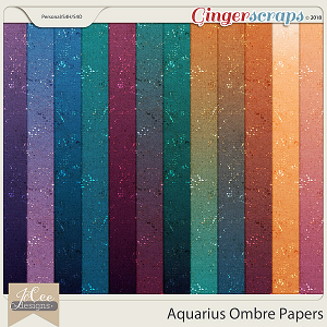 Aquarius Ombre Papers by JoCee Designs