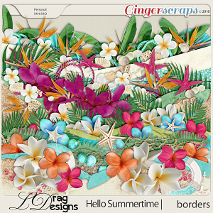 Hello Summertime: Borders by LDragDesigns