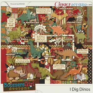 I Dig Dinos by BoomersGirl Designs
