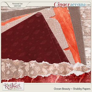 Ocean Beauty Shabby Papers