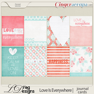 Love Is Everywhere:Journal Cards by LDragDesigns